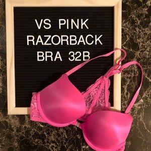 💕 VS PINK Lace Razorback Push Up Bra 💕